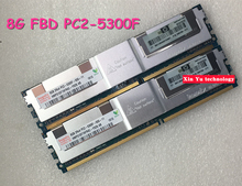 8GB DDR2 667MHz 8G PC2-5300 2Rx4 FBD ECC Server memory FB-DIMM RAM 240pin  Lifetime warranty