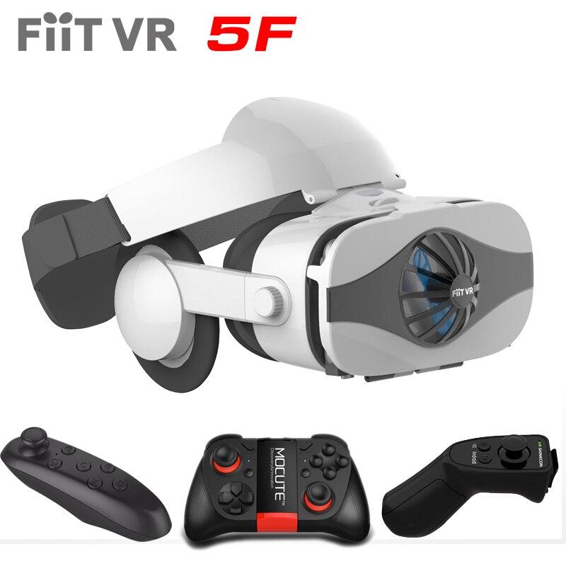 Fiit VR 5F гарнитура Версия Вентилятор охлаждения Очки виртуальной реальности 3D очки Deluxe Edition шлемы смартфон дополнительный контроллер