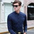 Плюс Размер Мужчины Рубашка Марка Одежда Плед Повседневная С Длинным Рукавом Рубашки Мужчины 2016 Мода Хлопок Мужские Рубашки Wt91349