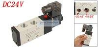 Gratis Verzending Outlet 3/8 ''4V310-10 DC 24 V 120mA 3.0 W Pneumatische Solenoid Filter Air Valve 5 poort 2 positie