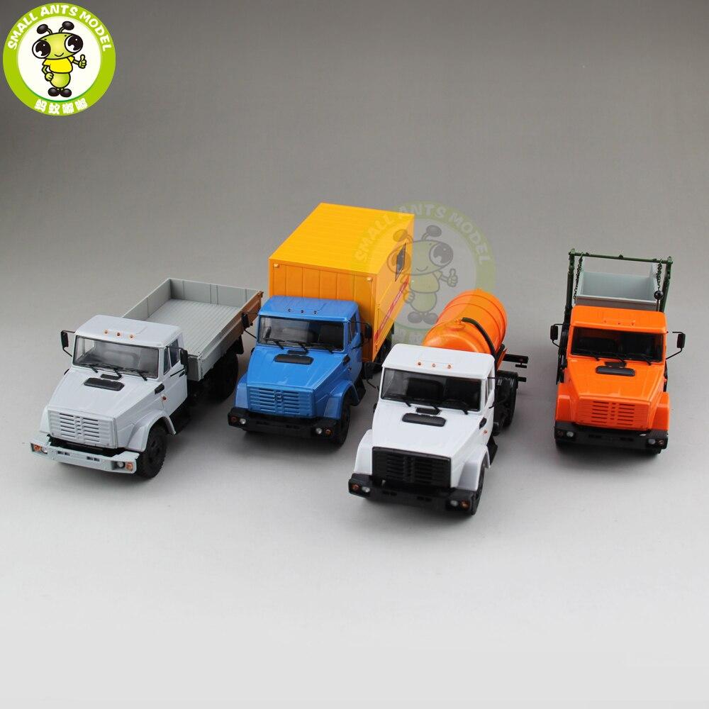 Beschädigt Modell 1/43 ABTO Russische Lkw Müll Lkw Cargo Van Sprinkler Diecast Lkw Auto Modell Spielzeug für kinder Jungen Mädchen geschenk