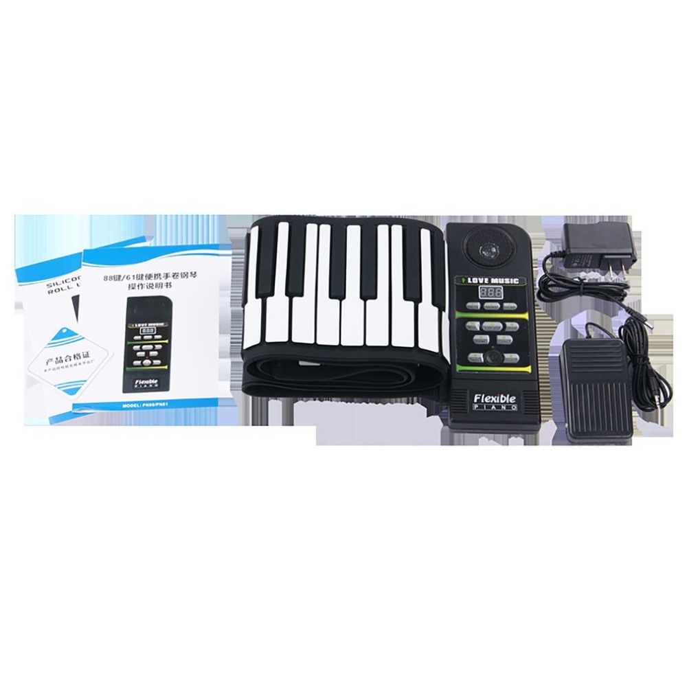Le Silicone Flexible portatif Multi de Style de 88 touches enroulent le clavier électronique se pliant de Piano pour l'étudiant d'enfants - 5