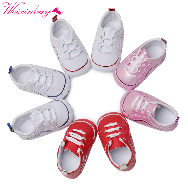 5c9635557 Baby Shoes PU Baby Girl Shoes Spring Bandage Cotton Soft bottom Baby Girl  Shoes Fashion Color