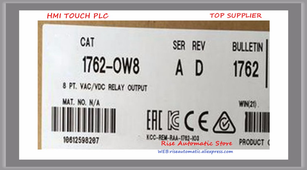 все цены на New Original Programmable Controller 1762-OW8 PLC 5-125VDC 8 Output Points Digital Output Module онлайн