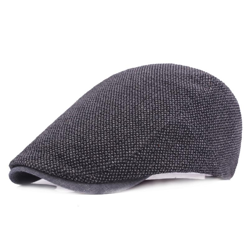 8252ab270f4 Beret Men s Spring and Summer Wild Casual Cap Middle aged Forward Hat Solid  Color Female Travel Duck Hat Wholesale LU0264-in Newsboy Caps from Apparel  ...