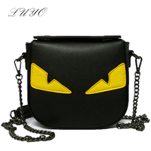 2016 Fashion Eye Monster Messenger Handbags Leather Famous Brands Designer Small Women Bag Shoulder Crossbody Bolsos Funny Sac