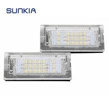 SUNKIA 2 шт./компл. автомобиля светодио дный номер Подсветка регистрационного номера лампа для 3 серии E46 4D (98-05) e46 5D (98-05) Touring Лидер продаж