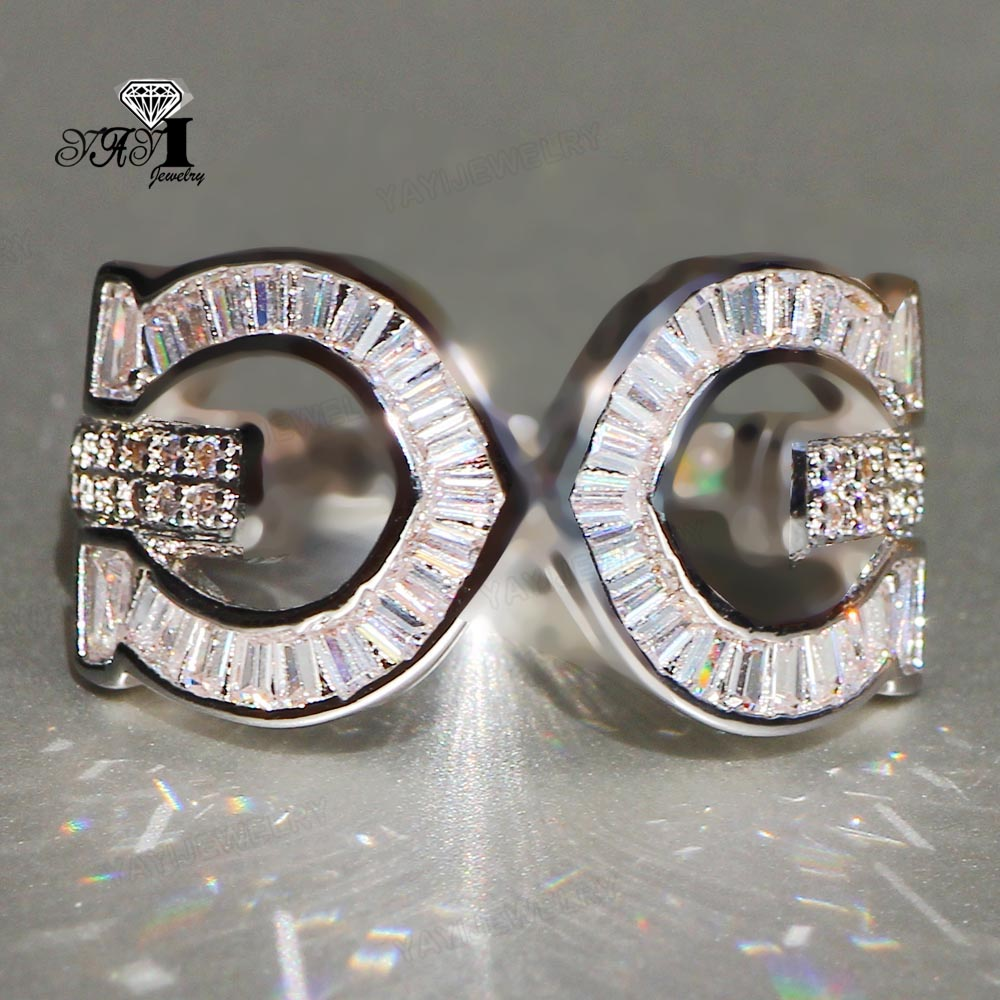 100% Kwaliteit Yayi Sieraden Prinses Cut 6.4 Ct Wit Zirkoon Zilveren Kleur Verlovingsringen Bruiloft Hart Ringen Meisjes Party Ring Geschenken 909