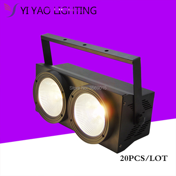 20 cái/lốc 2 Đôi Mắt 2X100 Wát Trắng Ấm Lạnh 2IN1 LED Khán Giả Mù Ư DMX Par Đèn