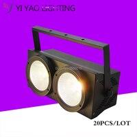 20pcs/lot 2 Eyes 2X100W Warm White Cold 2IN1 LED Audience Blinder DMX Par Lights