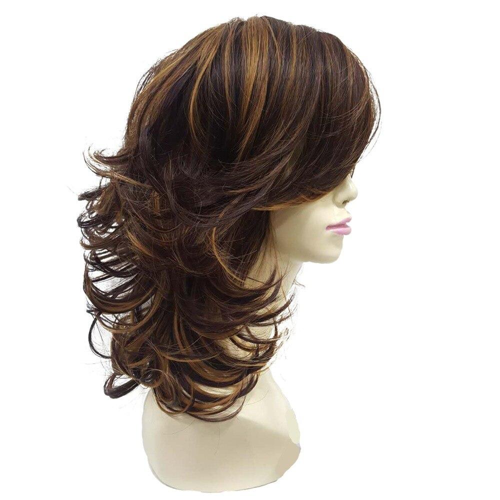 Strongbeauty Women S Wig Auburn Layered Medium Curly