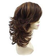 StrongBeauty 女性のかつら赤褐色層媒体カーリーヘアスタイルのための髪合成フルウィッグ