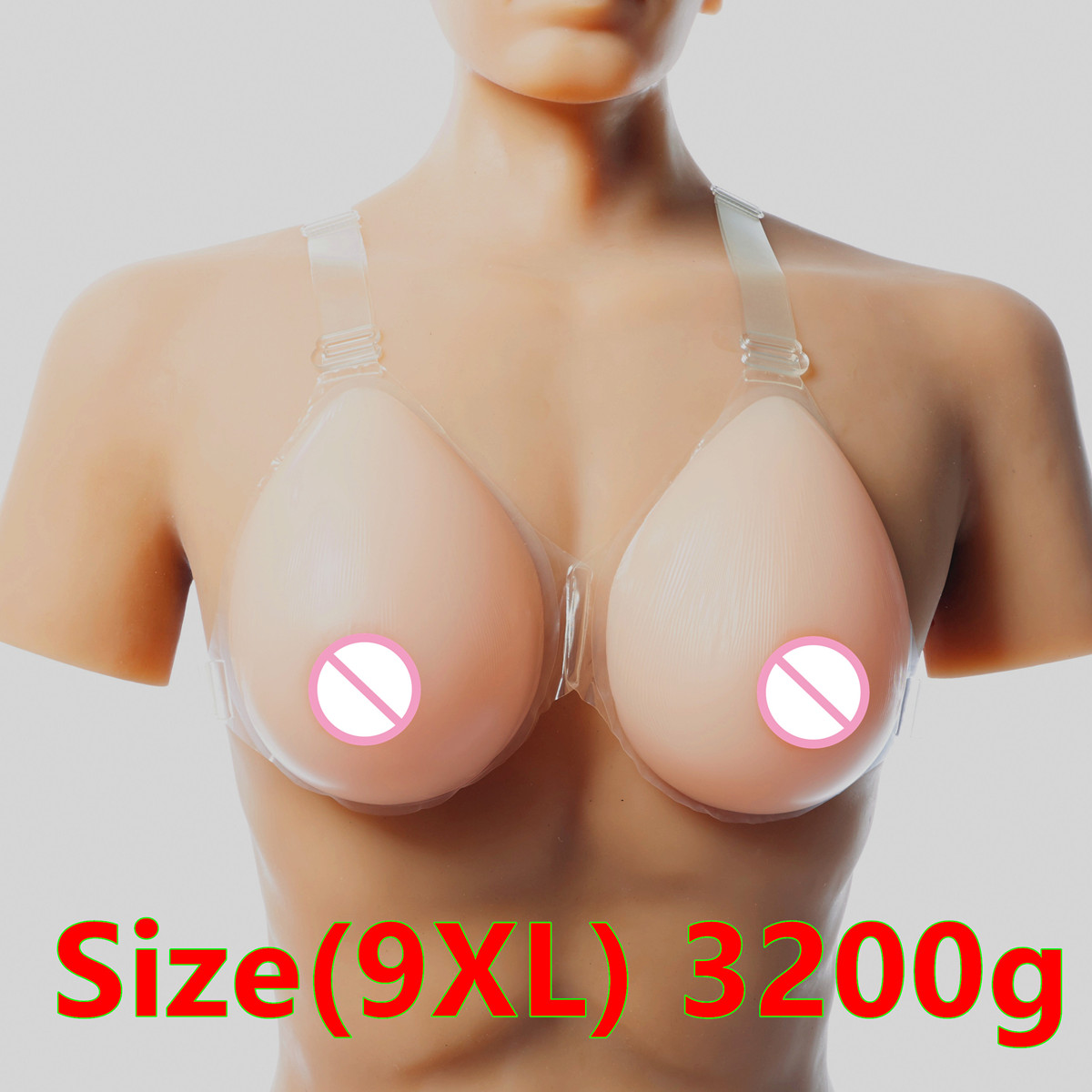Drag Queen Breast 3200g/pair Transgender Silicone Breast Forms Artificial Breast False Boobs Realistic Breast Prosthesis цена