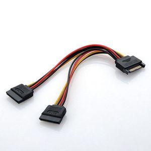 Image 4 - 고품질 분배기 케이블 SATA 전원 15 핀 Y 분배기 케이블 어댑터 남성 HDD 하드 드라이브 뜨거운 여성