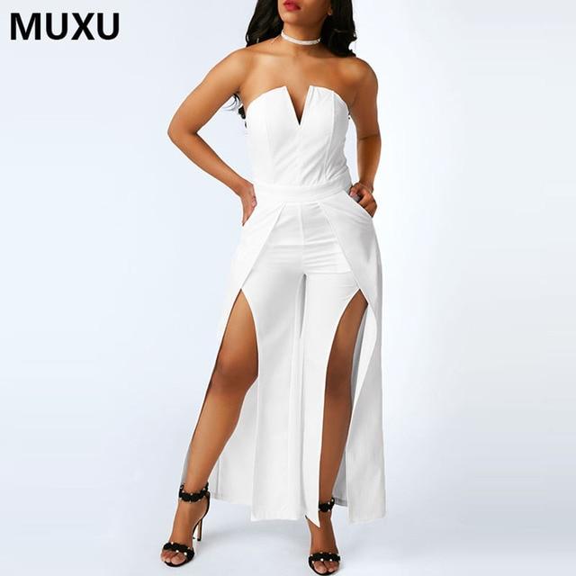 Muxu Jumpsuit Combinaison Femme Combishort Jumpsuit Women