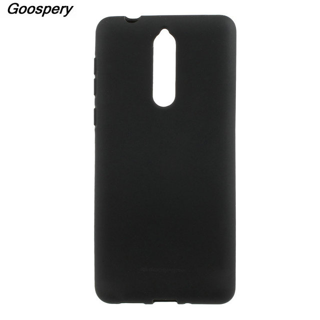 the latest 46792 25804 US $6.99 |For Nokia 8 Case Original MERCURY GOOSPERY Matte Skin TPU Phone  Shell Case for Nokia 8 Silicone Back Cover-in Fitted Cases from Cellphones  & ...