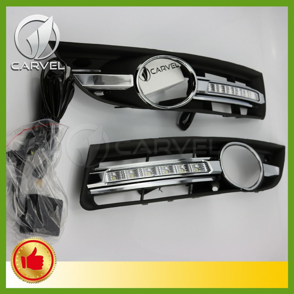 For VW Passat B6 2006 2007 2008 2009 2010 2011 Pair of LED Lights DRL Daytime Running Lights daytime running light for vw volkswagen passat b6 2007 2008 2009 2010 2011 led drl fog lamp cover driving light