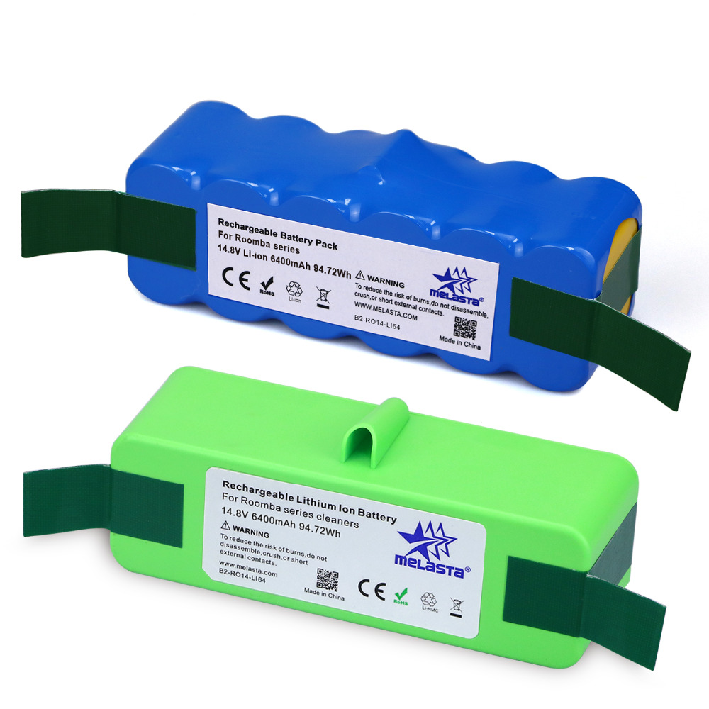цена на 2 CR 6.4Ah 14.8V Li-ion Battery for iRobot Roomba 500 600 700 800 980S 510 530 550 560 585 561 620 630 650 760 770 780 870 880R3