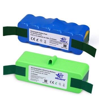 6.4Ah 14.8V Li-ion Battery for iRobot Roomba 500 600 700 800 Series 510 530 550 560 580 610 620 650 760 770 780 790 870 880 R3 digital clock
