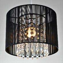 Современные хрустальные люстры импортеры K9 хрустальные люстры de cristal светильник черно-белая люстра из ткани для гостиной спальни лампа