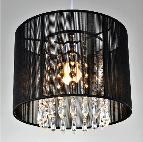 Modern crystal chandelier importers K9 crystal lustres de cristal fixture Black White fabric chandelier for living bedroom lampModern crystal chandelier importers K9 crystal lustres de cristal fixture Black White fabric chandelier for living bedroom lamp
