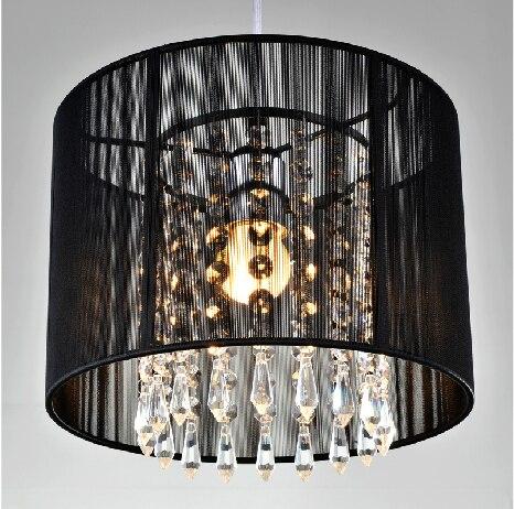 Moderne lustre en cristal importateurs K9 cristal lustres de cristal luminaire Noir Blanc tissu lustre pour salon chambre lampe