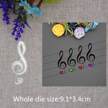 2019 New Arrival  Lovely Musical Note Cutting Dies Stencil DIY Scrapbook Embossing Decorative Paper Card Craft Template 91x34mm 2019 new arrival lovely circle grass cutting dies stencil diy scrapbook embossing decorative paper card craft template 89x83mm