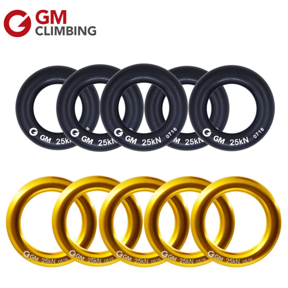 25KN//5600lbs Rock Climbing Rappel Ring Bail-Outs Rigging Descender Device Yellow