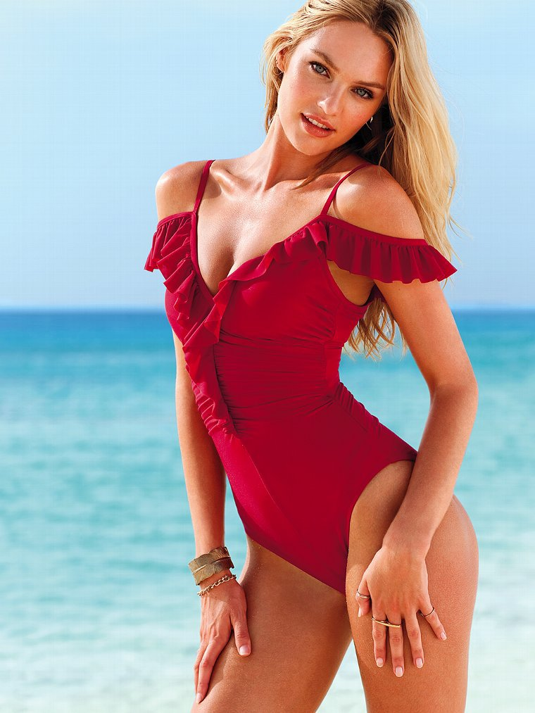 Sexy Swimwear Women One Piece Swimsuit Vintage Swim Dress -2967