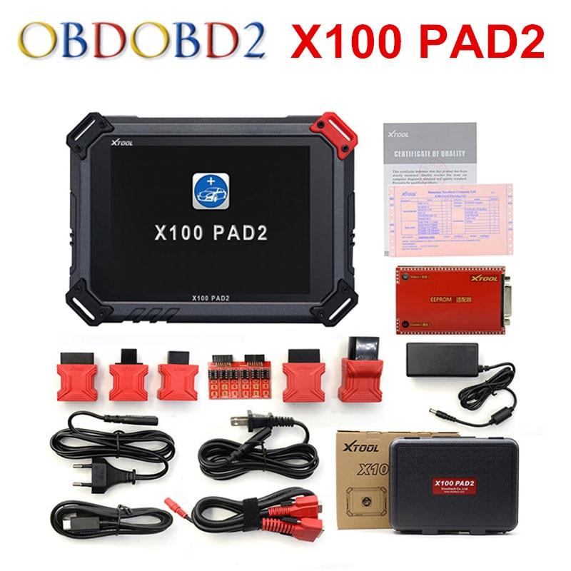 Prix pour D'origine XTOOL X100 Pad2 Pro Auto Key Programmeur X 100 PAD 2 Avec EPB EPS OBD2 Odomètre Mise À Jour Gratuite En Ligne Multi-Langues