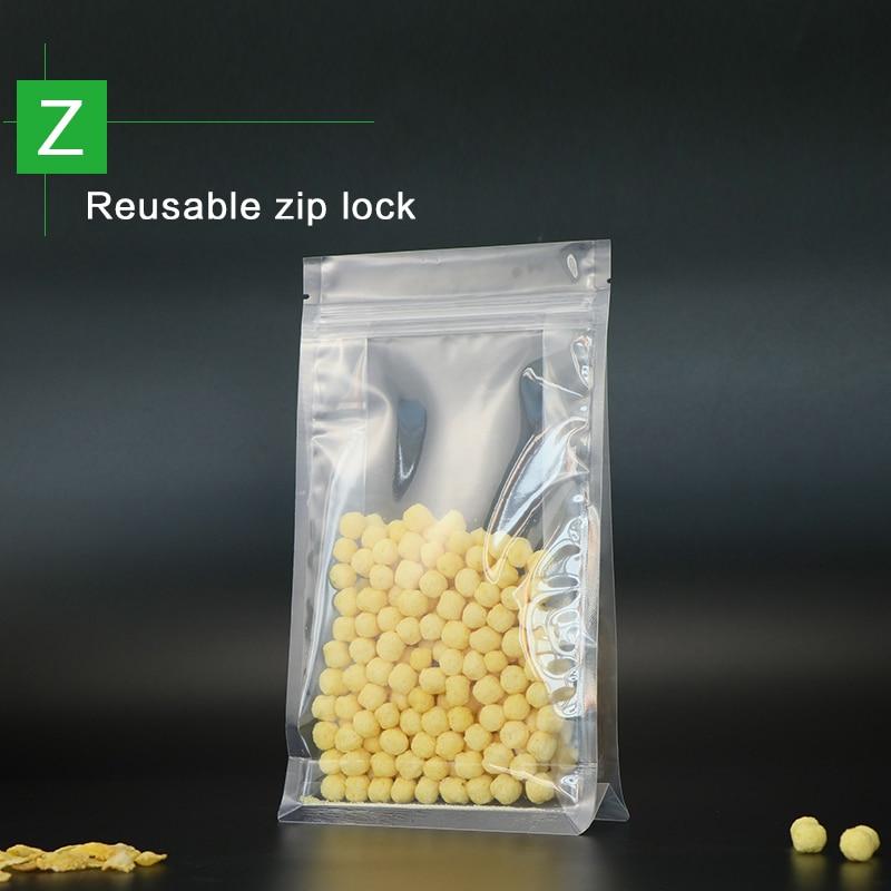blocco fondo stand up sacchetto con cerniera in plastica trasparente - Organizzazione e deposito in casa - Fotografia 2