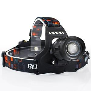 Image 2 - BORUiT RJ 2157 XM L2 lampa czołowa LED 3000LM 5 Zoom reflektor akumulator 18650 moc banku wodoodporna latarka czołowa na kemping