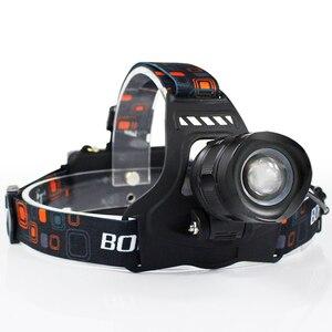 Image 2 - Boruit RJ 2157 XM L2 ledヘッドランプ3000LM 5モードズームヘッドライト充電式18650電源銀行防水ヘッドトーチキャンプ