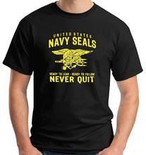 Футболка states navy seals ready lead/Следуйте бросить трески