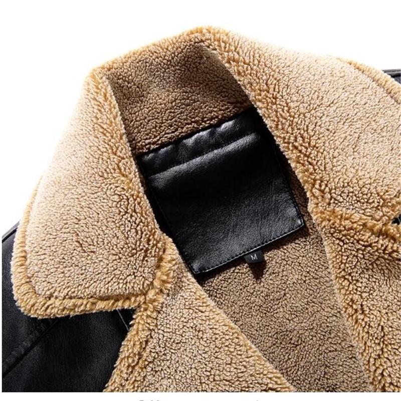 Pardessus 1 Épais En Hommes Veste Doublé D'hiver Manteau 2 Velours Long Mâle Chaud 2018 Cuir Unique Poitrine 6wqxZ11d