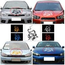 лучшая цена Chinese Mythical Dragon Creative Car Styling Decorative Vinyl Car Sticker Car Hood Body Wrap Decal On Car Racing Sport