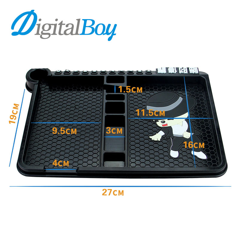 Digitalboy Universal Car Silicone Anti Slip Pad Phone Holder Stand Non-slip Frame Dashboard Mat for iphone Car Accessories key цена