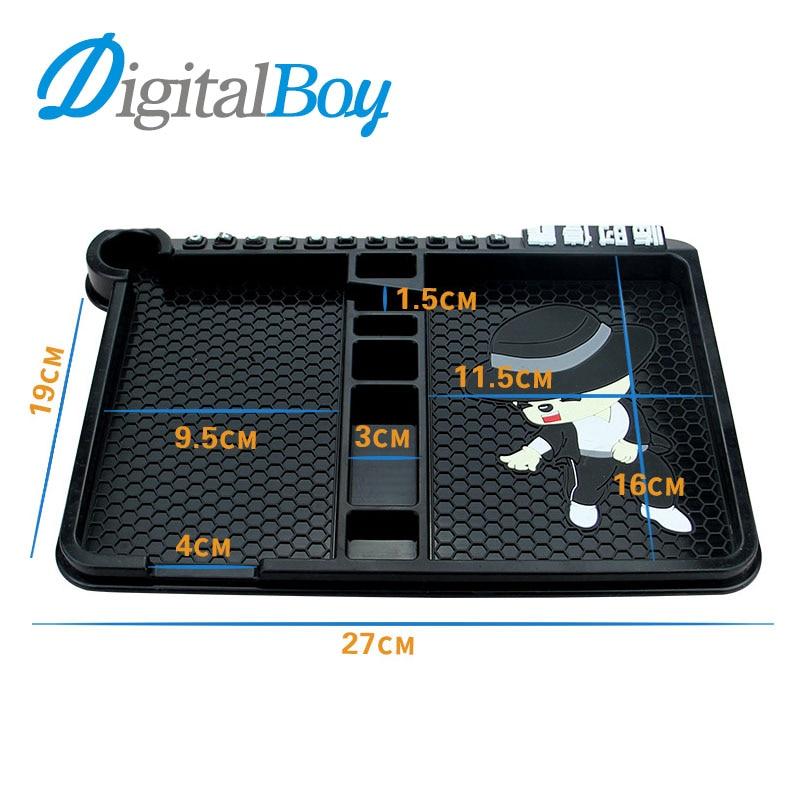 Digitalboy Universal Car Silicone Anti Slip Pad Phone Holder Stand Non-slip Frame Dashbo ...