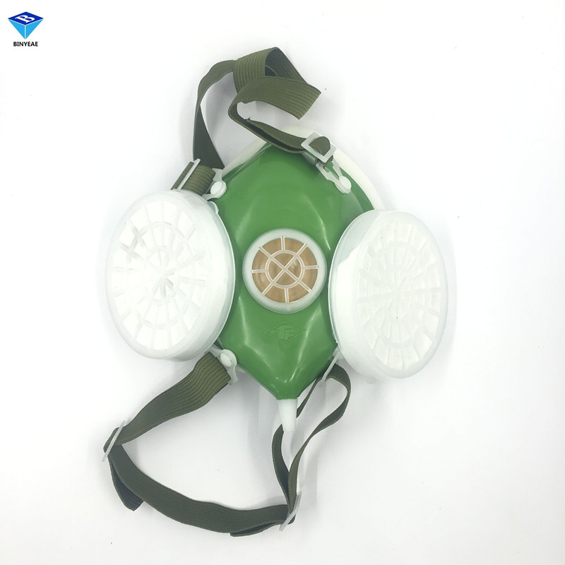 Double Cartridges Respirator Mask Industrial Gas Chemical Anti-Dust Spray Paint Respirator Face Masks Filter 1pcs double gas mask chemical gas respirator face masks filter chemical gas protected face mask with goggles