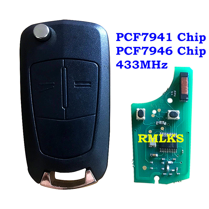 New 2 Button Flip <font><b>Remote</b></font> <font><b>Key</b></font> Fob 433Mhz for <font><b>Opel</b></font>/Vauxhall Astra H/D Zafira B 2005-2013 for Valeo 13.149.658 Keyless Entry System image