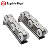 Stainless Steel 304 Kitchen Balcony Door Cabinet Hard Pulley Sliding Door Wheel Mute S Round Hanging