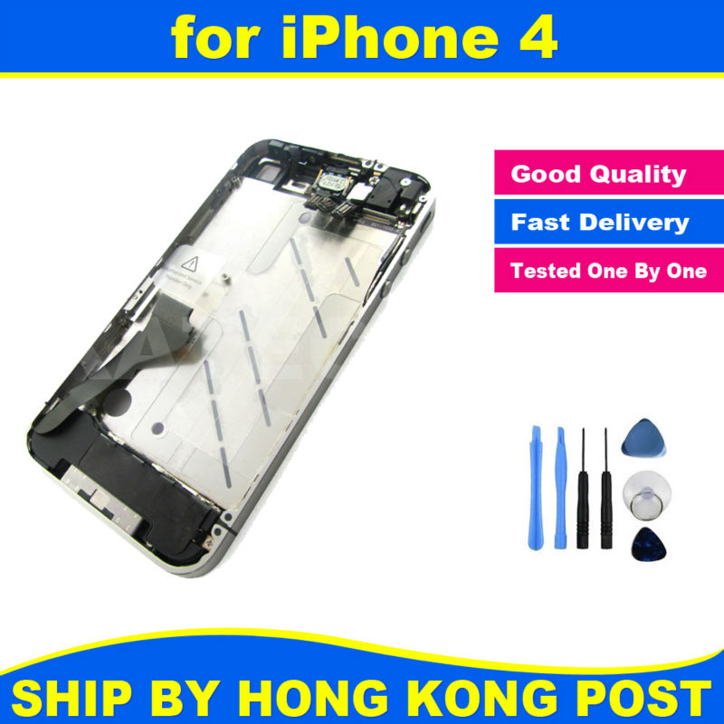 Chassis New Full Parts for iPhone 4 4G Middle Frame Bezel Midframe Housing Assembly Replacement Parts