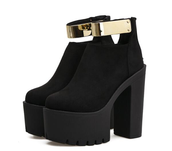 De Ete Zapatos Talón Chaussures Rebaño Feminino Botines Impermeable Mujer Sk180036 Roma Femme Black Sapato gWCwqCx08X