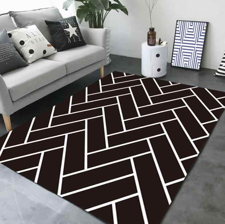Fabulous Large European Geometric Black And White Carpet Area Rug For Bedroom Livingroom Kitchen Baths Mat Door Mat Anti Slip Home Carpet Download Free Architecture Designs Crovemadebymaigaardcom