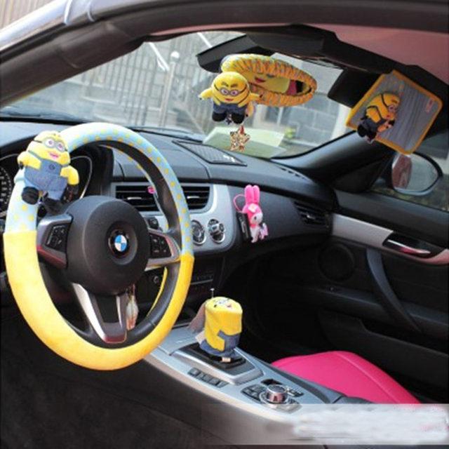 Online Shop Minions Car Interior Decoration Accessories Short Plush