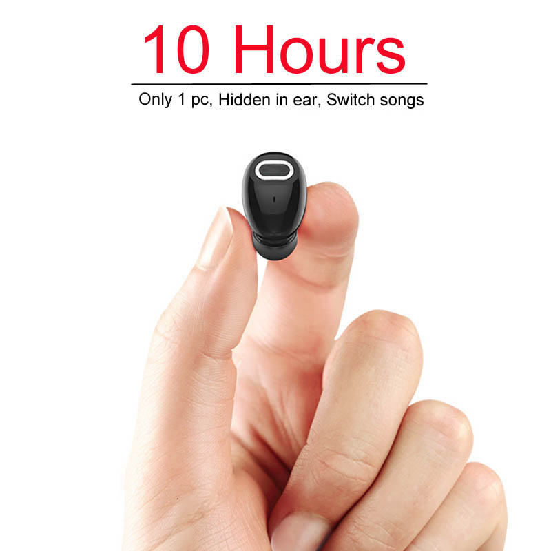 NVAHVA Mini Bluetooth Earphone 10 Hrs Music Time Bluetooth Headset Wireless Earbud Hands-free For TV Car PC iPhone Xiao mi Phone
