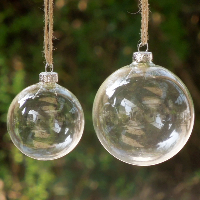 6pcslot christmas glass ball clear baubles ornaments decorations christmas tree pendants outdoor christmas inflatables