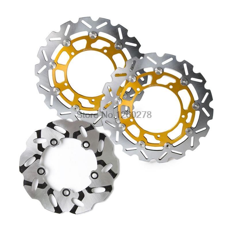 Motorcycle Front & Rear Brake Disc Rotor Set For Yamaha YZF R1 2007-2011 R6 2005-UP R6S 2007 brand front brake disc rotors for yamaha 2007 2011 yzf r1