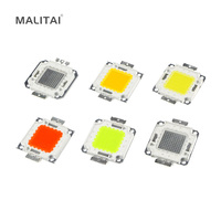 10W 20W 30W 50W 100W High Power Integrated LED Lamp Beads Chips SMD Bulb For Floodlight