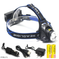 2000 Lumens zoomable Headlamp Headlight XML-T6 Outdoor sports Head Lamp  3 Modes Headlight Cycling Lantern +AC/Car charger